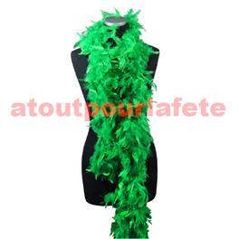 Boa en plumes Vert bouteille 1,80m 50 grs