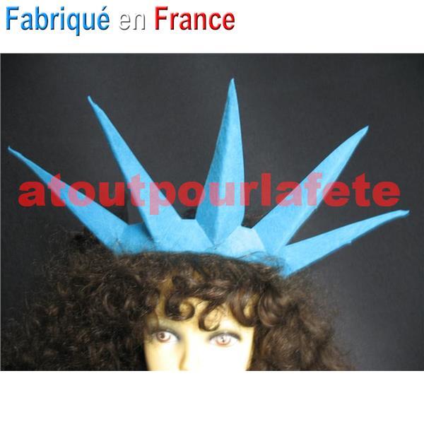 Coiffe couronne statue de la liberte - Fabrication de couronne de noel ...