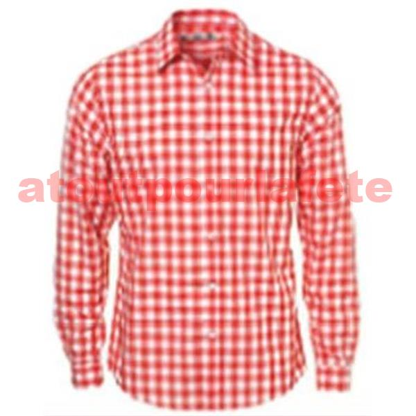 chemise a carreaux rouge homme deguisement cow boy. Black Bedroom Furniture Sets. Home Design Ideas