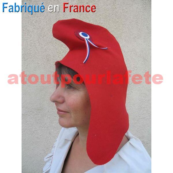 Bonnet Phrygien, chapeau révolutionnaire (feutrine)