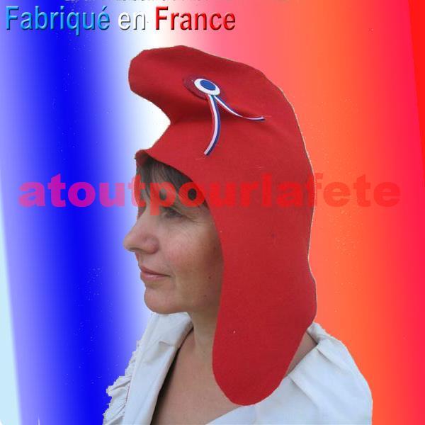 Bonnets Phrygien, chapeau révolutionnaire (feutrine); Bonnet