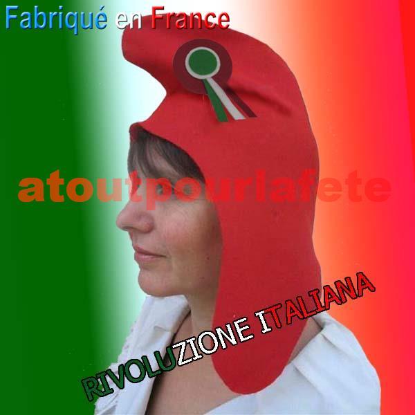 Bonnet Révolutionnaire, chapeau révolutionnaire, Phrygien Italien