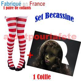 Set Bécassine Chapeau,chaussettes rayée