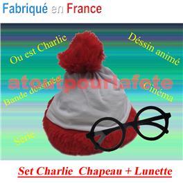 """Set Ou est Charlie """"Chapeau+Lunette, Déssin Animé, Série,"""