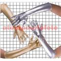 Gants long métallisés Or ou Argent 45cm (la paire)