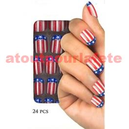Set de 24 Faux ongles Usa