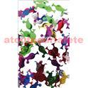 Confettis de table verre à cocktail - multicolore - 2,5 cm - sachet de 10 gr