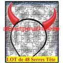 Lot de 48 Cornes de Diable (serre-tête)
