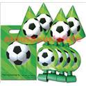 Sachet goûter Football - 4 chapeaux, 4 sans gênes et 4 sachets