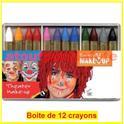 Boîte de 12 crayons gras coloris assortis