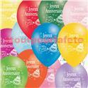 Ballons Joyeux Anniversaire (sac de 100) Ø29cms