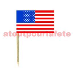 blister de 50 Mini drapeaux Tricolore Usa 3 x 5cm