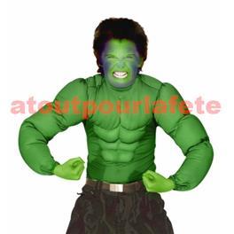 """Chemise Hulk, """"Muscle Vert"""" enfant"""