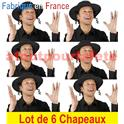 Lot de 6 Chapeaux Rabbin, Rabbi Jacob,