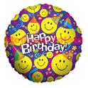 "Ballon ""Smiley"" Sourire/Visage Mylar Aluminium Imprimé/23cm"