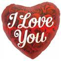 """Ballon """"Y Love You"""" Mylar Aluminium Imprimé/46cm"""