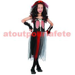 Costume enfant luxe robe squelette longue - S - M - L