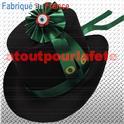 Set Conscrit Adulte (chapeau noir+Cocarde verte+ruban+année)