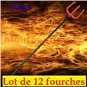 LOT A PRIX PRO: 12 Fourches de Diable 122cm