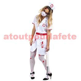 Déguisement d'infirmière de l'horreur- adulte T.U