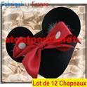 LOT A PRIX PRO: 12 Chapeaux- coiffe de Minnie mouse, Disney, BD