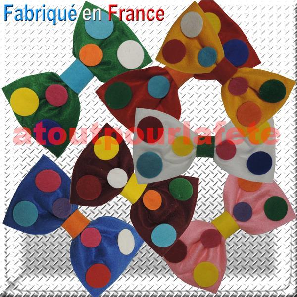 Top Noeud papillon clown (fabrication française) AE08
