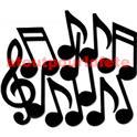 Sachet de 12 notes de musique