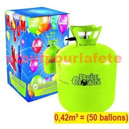 Bouteille d' Hélium jetable 0,42m³  (50 ballons)