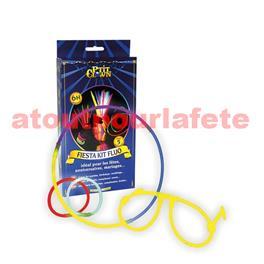 Kit Fiesta Lumineux (10Bracelets + 5lunettes + 5 pailles (coloris assortis)