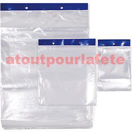 Liasse de 100 sachets plastique transparents 30X40cm
