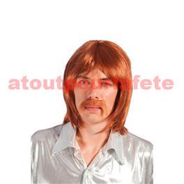 Perruque homme avec moustache, 1980, Disco