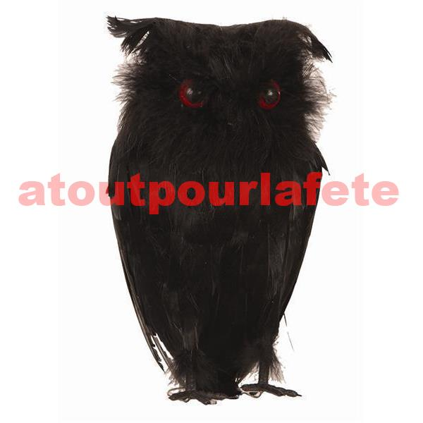 Hibou noir de decoration halloween for Decoration hibou