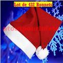 Lot de 432 Bonnets de Père Noël (1er Prix)