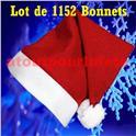 Lot de 1152 Bonnets de Père Noël (1er Prix)