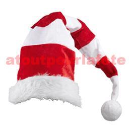 Bonnet lutin rouge et blanc