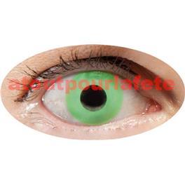 Lentilles de contact fantaisie - Oeil vert- la paire