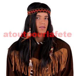 Perruque d'Indienne avec Nattes