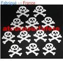 Tête de Mort Or sur epingle, Albator,Pirate, Flibustier, Gouter d'enfants (pièce)