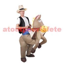 Déguisement cowboy a cheval - Gonflable - Déguisement