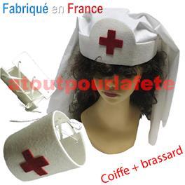 Set Infirmière WWII (Coiffe + 1 brassard)